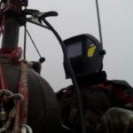 сварочные работы промышленным альпинистом