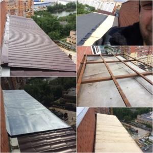 Замена кровельного покрытия на балконе