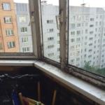 Грибок на балконе