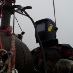сварка промышленными альпинистами