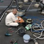 сборка теплого кабеля для обогрева водосточной трубы