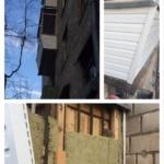 монтаж   сайдинга на балконе снаружи