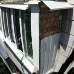 обшивка   балкона в процессе