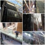 Монтаж стеклянных ограждений на балконах БЦ Большевик