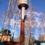 Покраска   водонапорной башни
